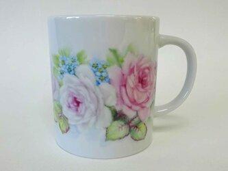 花のマグカップF(手描き)の画像