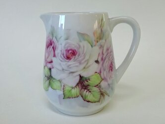 ミルクジャグ 薔薇(手描き上絵付け)の画像