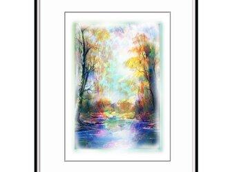 「遠き日の静穏と静音」 ほっこり癒しのイラストA4サイズポスターNo.652の画像