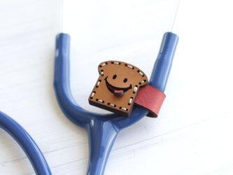 聴診器 SMILEネームタグ(食パン)の画像
