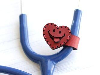 聴診器 ネームタグ(SMILE ハート)の画像