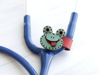 聴診器 SMILEネームタグ(カエル)の画像