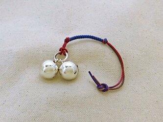 銀製の鈴 『 ツイン 』 (シルバー925) 根付・バッグチャームの画像
