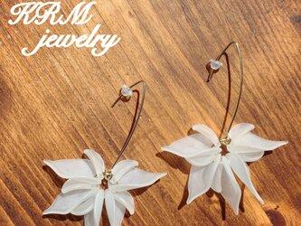 White flower pierce  Ⅱの画像