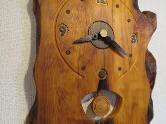 北海道産イチイの振り子時計NO5の画像
