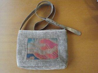 酒袋のショルダーバッグの画像