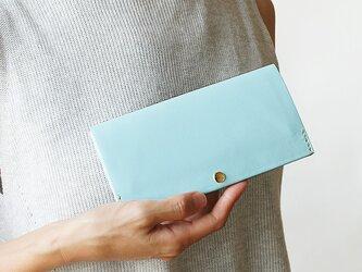 スマート長財布 スカイブルー(イタリア牛革・顔料仕上げ) 断捨離で必要な物を見直すお財布 の画像