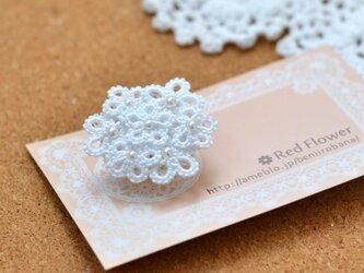花束ポニーフック(ホワイト)レース編み タティングレースの画像