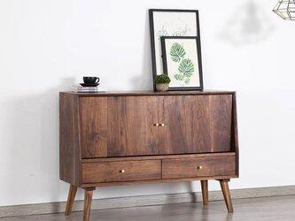 受注生産 職人手づくり キャビネット 収納棚 本棚 シェルフ サイドボード クラシック 北欧家具 サイズオーダー可 家具の画像