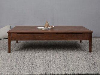 受注生産 職人手づくり ローテーブル センターテーブル おしゃれ リビング 収納 北欧家具 サイズオーダー可 天然木の画像