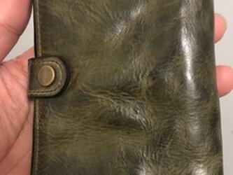 二つ折り財布 復古  本牛革 レディース メンズの画像