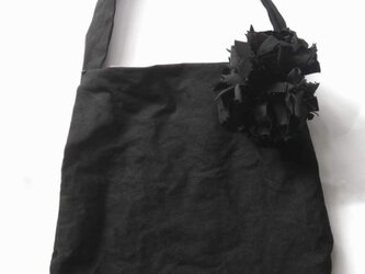 プチキャンバスバッグ 黒 送料無料の画像