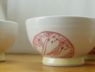 赤パンダ絵付け茶碗〈星〉の画像