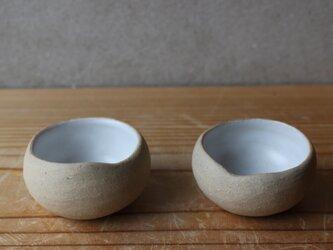 育てるウツワ 揺ら お猪口 ぐい呑 茶器 ペア セット(地器chiki)茶 陶土の画像