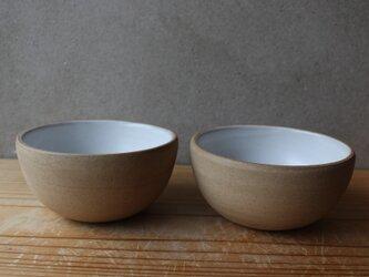 育てるウツワ ボウル 茶碗 ペア セット(地器chiki)茶 陶土の画像