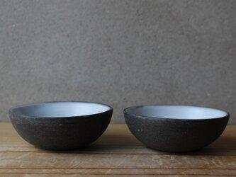 育てるウツワ 豆 小鉢 ペア セット(地シリーズ)黒 陶土の画像