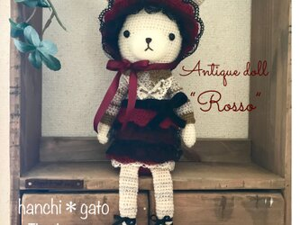 """アンティークドールなうさこさん""""Rosso""""の画像"""