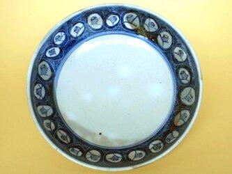 椿文染付平鉢の画像