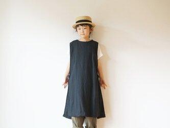 Linen apron one piece kids 1(80cm~),2(100cm~)sizeの画像