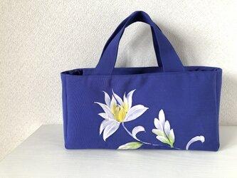 帯バッグ〜白いお花〜の画像