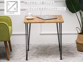 受注生産 職人手作り アイアンテーブル デスク 作業台 パソコンデスク 男前家具 サイズオーダー可 アイアンウッド 木目の画像