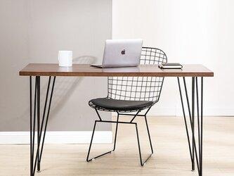 受注生産 職人手づくり アイアンデスク パソコンデスク アイアンウッド テーブル 男前家具 サイズオーダー可の画像