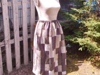 気ままにパッチワーク・ギャザースカートの画像