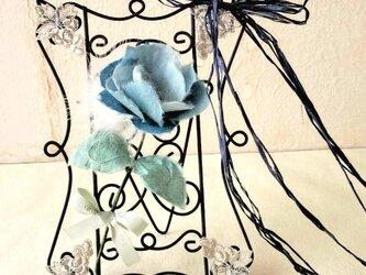 手漉き和紙花ギフト ブルートルコキキョウの画像