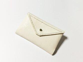 カードケース(生成り×黒×辛子)の画像