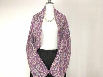 正絹反物 マーガレット ストール 長袖  羽織りもの 着物リメイク(16)の画像