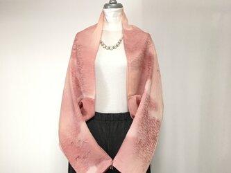 正絹反物 マーガレット ストール 長袖  羽織りもの 着物リメイク(17)の画像