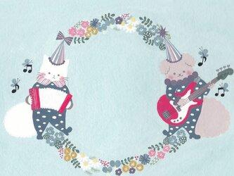 ポストカード「花小箱の音楽隊」2枚セット の画像