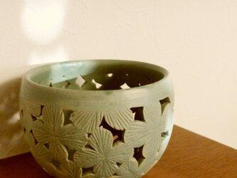 紫陽花キャンドルポットの画像