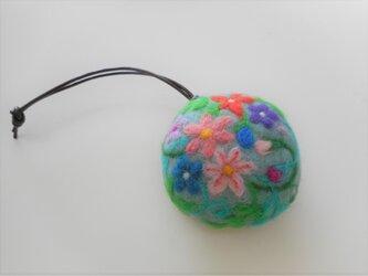 携帯用ナイロン袋ケース 花の画像