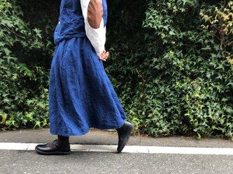 インディゴ リネン スカート ... No.03の画像