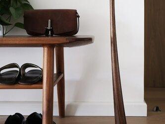 受注生産 職人手作り 靴べら スタンドセット ウォールナット 木工 モダン 北欧 木目 ギフト 新作 職人技 無垢の画像