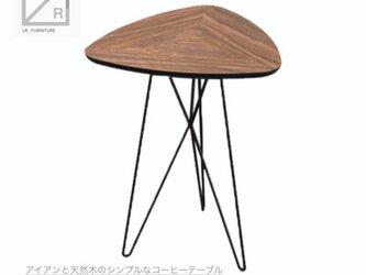 受注生産 職人手作り サイズオーダー可 コーヒーテーブル ミニテーブル アイアンウッド アイアン 家具 天然木 木目の画像