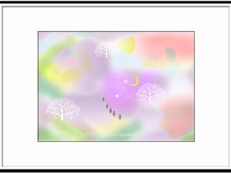 「ふんわりしたい日」 ほっこり癒しのイラストA4サイズポスターNo.653の画像