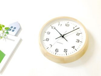 KATOMOKU muku round wall clock 11 ナチュラル km-94NRC 電波時計 連続秒針の画像