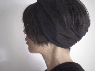 ターバンなヘアバンド 黒 送料無料の画像