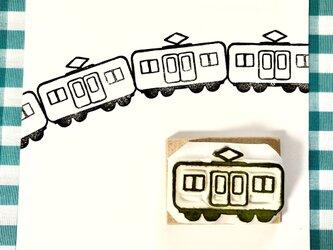 繋げて楽しむハンコ★電車の画像