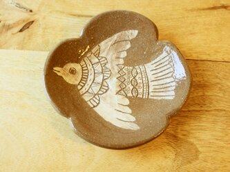 鳥のクローバー小皿の画像