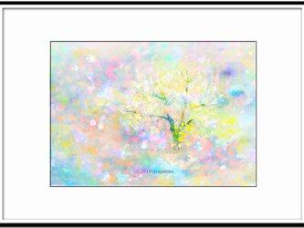「春の園」 ほっこり癒しのイラストA4サイズポスターNo.654の画像