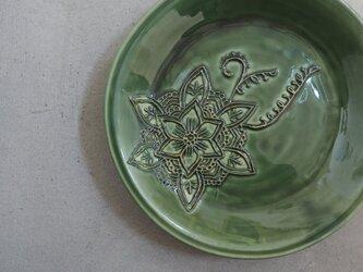 花柄のお皿②の画像