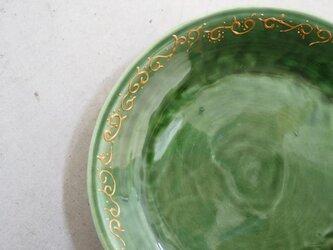 ゴールドの唐草のお皿の画像