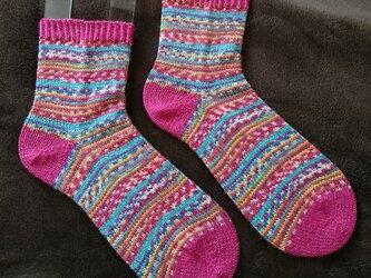手編み靴下 opal 気仙沼 祭の画像