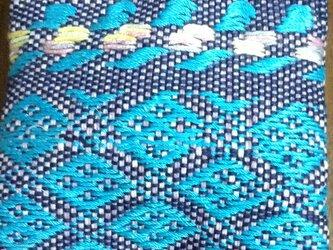 ミニポーチ☆手織りの画像