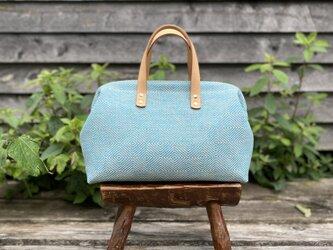 Boston bag  M size [Växbo Lin] ターコイズブルーの画像