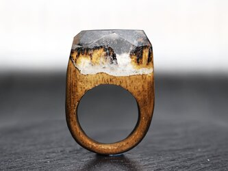【送料無料】Rock Cliff ~Resin Wood Ring~の画像