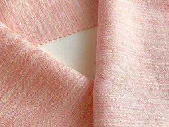 蝋しけ引き絹半衿(淡黄味ピンク系)の画像